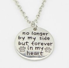 """No Longer By My Side"" Necklace"