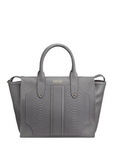 GiGi New York - Personalized Gates Python-Embossed Leather Satchel