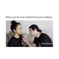 """: Liza and David do each other's makeup on their second youtube channels :) """"Liza Koshy Too"""" and """"David Dobrik Too"""" so if you haven't watched it, go watch it now :) @lizakoshy @daviddobrik"""
