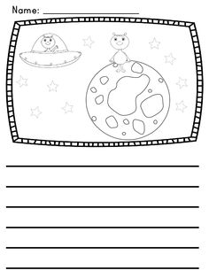 """Use these picture prompts in your writing center or elsewhere to spark story ideas! The theme for this set is """"Monsters and Aliens"""" and 10 different prompts are included."""