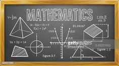 Vector Illustration of Mathematics Subject on Blackboard. Best for Education, Learning, Mathematics, Algebra, Geometry, Trigonometry.