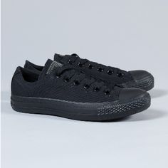 Converse  Women's Black All Star Ox Trainers: An icon of the rock and roll revolution of the 50's and 60's, the All Star Chuck Taylor is a timeless addition to your footwear collection. Canvas upper, durable rubber sole, classic branding on the tongue and back of the sole.
