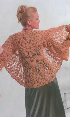 Bolero. Not exactly a shawl, but pattern would allow to make it as such.