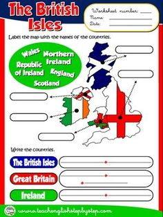 The British Isles - Worksheet