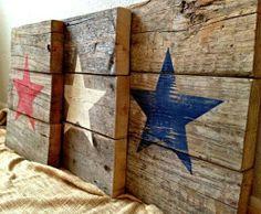 stars on wood