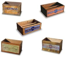 Vintage Retro Hand Made Wooden Storage Boxes & Trugs Country Style Chic Crates