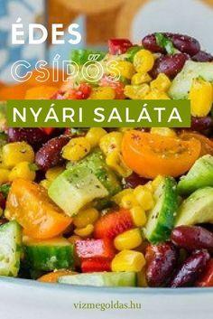 Egészséges receptek - Édes-csípős nyári saláta Salad Recipes, Healthy Recipes, Muesli, Fruit Salad, Feta, Healthy Lifestyle, Salads, Paleo, Food And Drink