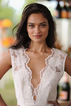 Shanina Shaik's bold brows and rouged lips