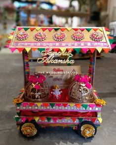 Station: 9557243888 Tips On How To Buy Discoun Indian Wedding Centerpieces, Desi Wedding Decor, Wedding Art, Wedding Crafts, Indian Wedding Gifts, Creative Wedding Gifts, Diwali Gift Hampers, Diwali Decoration Items, Housewarming Decorations