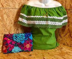 Blusa Campesina Verde, Comprala en korinamexicana.com.mx Envíos a toda la Republica Mexicana.