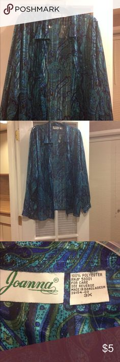 3X Joanna blouse new without tags Size 3X Joanna blouse new without tags Joanna Tops Blouses