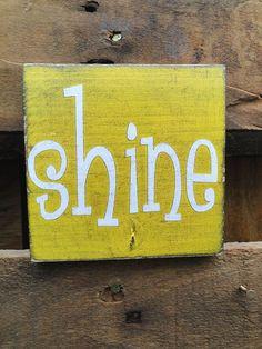 Shine Art Block by MagnoliaMarket on Etsy, $8.00