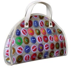 Colorful Bag Made From Recycled Bottle Caps