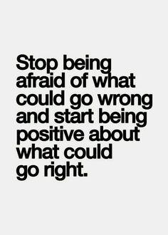 Start being positive
