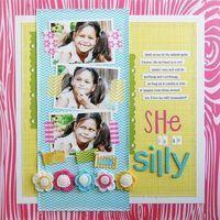 Bella Blvd. Scrapbook layout by Laura Vegas.