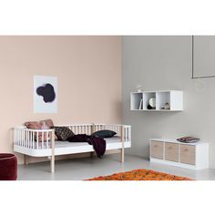 Designstuff offers a range of Scandinavian designed furniture including this stunning wood day bed in white by Oliver Furniture of Denmark. Modern Kids Bedroom, Childrens Bedroom Furniture, Toddler Furniture, Childrens Beds, Kids Bedroom Furniture, Furniture Layout, Furniture Websites, Furniture Movers, Bedroom Ideas