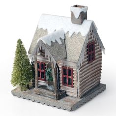 Sizzix Bigz Die - Tim Holtz - Village Winter - This die cuts winter themed shapes including icicles, snow and window casings. Designed to be used with the Village Dwelling die 660992 Christmas Villages, Christmas Home, Christmas Crafts, Christmas Decorations, Christmas Ornaments, Tim Holtz, House Template, Putz Houses, Vintage Winter