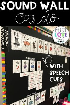 Use these sound wall cards to set up a sound wall in your classroom. Phoneme posters with speech cues, mini cards for reinforcing sounds, and sight word cards with spelling patterns highlighted to sort by sound. Over 100 sound patterns included! Kindergarten Language Arts, Classroom Language, In Kindergarten, Language Activities, First Grade Phonics, Teaching First Grade, Teaching Phonics, Teaching Reading, Jolly Phonics