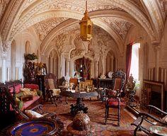 CEILING - room in  Palacio de Pena Sintra, Portugal. Photography by Alex Ramsay