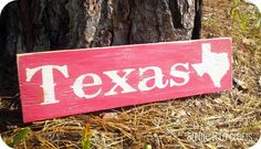 Items similar to State of Texas Wood Sign in Country Red and Cream on Etsy Texas Signs, Only In Texas, Texas Forever, Loving Texas, Texas Pride, Lone Star State, Texas Homes, Stars At Night, Houston Texans