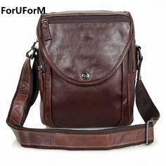 Bright Goog.yu Genuine Leather Bag Male Casual Crossbody Bag Fashion Mini Handbags Men Top Layer Cowhide Deep Coffee Shoulder Bags By Scientific Process Home