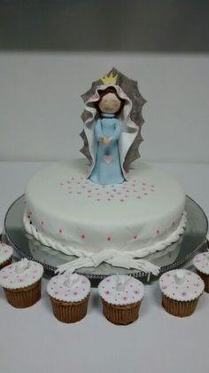 Torta virgen de guadalupe primera comunion