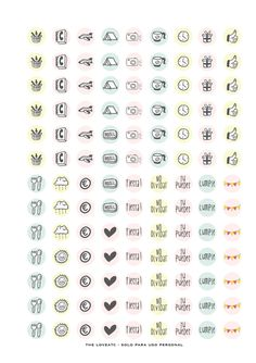 pegatinas imprimibles gratis para la agenda  en varios idiomas!