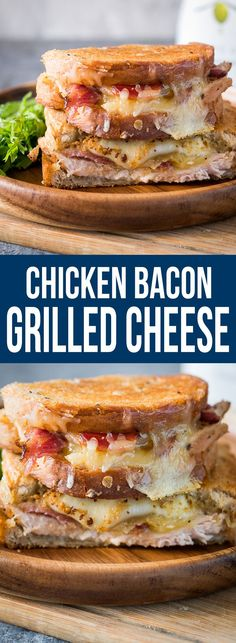 CHICKEN BACON RANCH GRILLED CHEESE is super cheesy and full of meaty, funky flavours. Perfect for lunch, dinner or a quick snack!