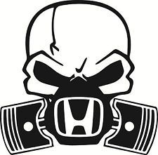 Skull Piston Gas Mask Decal Sticker Car Honda Civic Jdm Drift Hoon