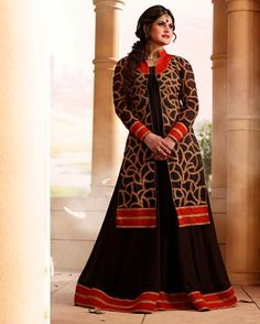 Absorbing Black Color Georgette Party Wear Anarkali Suit Product Code: 2169 Shop Now : http://www.shivoham.biz/product_info.php/manjaree/anarkali-suits/absorbing-black-color-georgette-party-wear-anarkali-suit-p-1234 Call Or WhatsApp - 09712933378 Email - Care@shivoham.biz