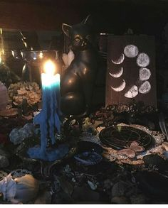 Beautiful altar with moon phases painting❤🌙 Pic & art by my fav insanely talented artist Moon Phases, Magick, Altar, World, Artist, Instagram Posts, Painting, Beautiful, The World