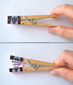 How cute is this pug with a  aecret Valentine's Day Message? So many possibilities with a clothespin, pic, paper and glue.– Kodak Moments