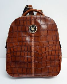 8d504ab7770d Dooney   Bourke Croc Leather Backpack