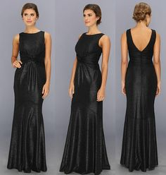 Rochie neagra lunga pe corp by Jessica Simpson Waist Knot Gown Prom Dresses, Formal Dresses, Knot, Gowns, Fashion, Tea Length Formal Dresses, Dresses, Moda, Knots
