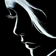 Girly Drawings, Pencil Art Drawings, Art Drawings Sketches, Charcoal Drawings, Black Canvas Paintings, Acrylic Painting Canvas, Air Brush Painting, Painting & Drawing, Black Paper Drawing