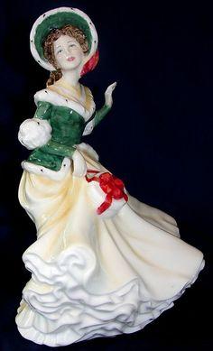 "Royal Doulton bone china (porcelain) figurine ""Christmas Day 2002"""