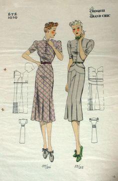 vintage-fashion-illustration | Victory Patterns