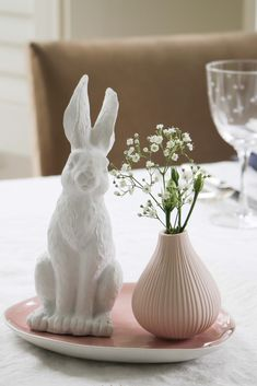 Who could resist this gorgeous little Easter table decoration, bring out the bunny, this one in pure white is perfect for sophisticated styling whilst providing a little fun for the kids. Happy Easter one and all!