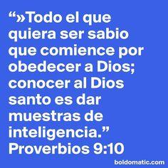 Todo el que quiera ser sabio que comience por obedecer a Dios; conocer al Dios santo es dar muestras de inteligencia. Proverbios 9:10  Feliz #miercoles !