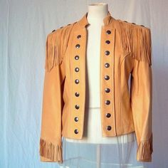 Jem totally hearts this 80s Lambskin Western Jacket