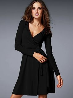 Faux wrap dress that doesn't wrinkle.  You could accessorize the heck out of this.