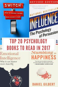 The Top 20 Best Psychology Books to Read in 2017