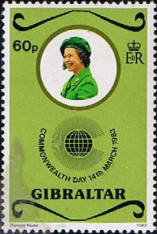 Gibraltar 1983 Commonwealth Day Fine Mint SG 490 Scott 446 Other European and British Commonwealth Stamps HERE! Royal Mail Stamps, British Overseas Territories, Country Uk, Buy Stamps, Postage Stamp Art, Commonwealth, Stamp Collecting, Fiction Books, Postcards