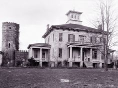Multiple spirits were said to have wandered Rocky Hill Castle before its demolition, including one spectral figure who may have been caught on camera.