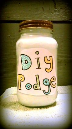 DIY Modge Podge: 2 parts white elmers glue to 1 part water. Mix and store. For glossy, add 1 Tbsp Varnish per pint. Cute Crafts, Crafts To Do, Crafts For Kids, Arts And Crafts, Paper Crafts, Diy Projects To Try, Craft Projects, Craft Ideas, Craft Gifts