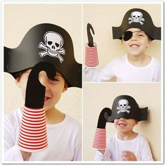 If it's a pirate's life for you this Halloween, check out these fun pirate costumes! women carnaval Shiver Me Timbers, These DIY Pirate Halloween Costumes Are Ridiculously Easy to Make Pirate Hat Crafts, Diy Pirate Costume For Kids, Pirate Halloween Costumes, Diy Costumes, Preschool Pirate Crafts, Homemade Pirate Costumes, Halloween Parties, Halloween Outfits, Easy Halloween