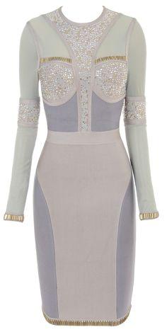 Buy: http://www.celebboutique.com/samia-crystal-embellished-long-sleeve-bandage-dress-en.html