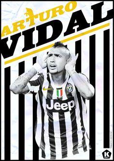 Fußball Stars - Arturo Vidal by Luke Barclay #Vidal #Fußball #Soccer