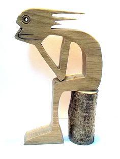 mec qui attend sur un rondin de bois les cheveux dans le vent : Sculptures, gravures, statues par 2-5d