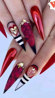Bling Acrylic Nails, Stiletto Nail Art, Bling Nails, Swag Nails, Pastel Nails, Coffin Nails, Stiletto Nail Designs, Summer Stiletto Nails, Colorful Nails